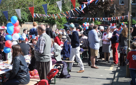 2012 Jubilee street party on Alfred Place